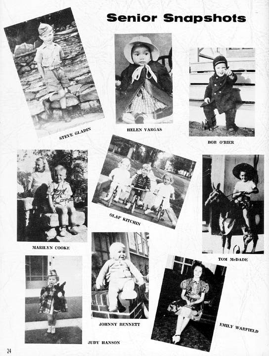 1958 Fledgling Yearbook - Seniors: Pages 9 to 24