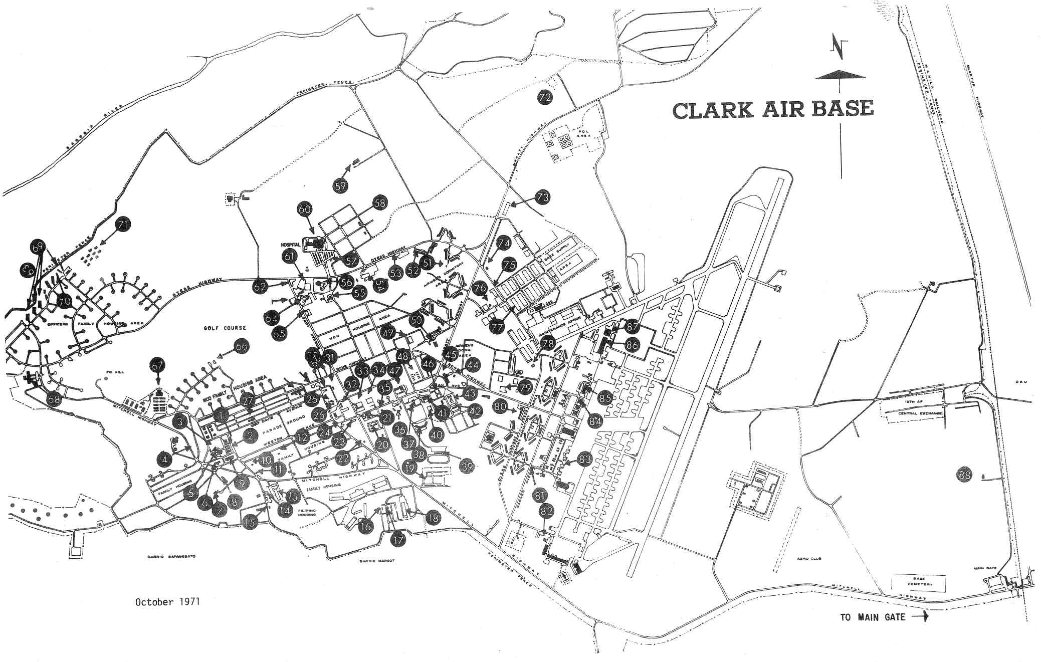 Maps Archive - Wagner HS, Clark AB, and the Philippines