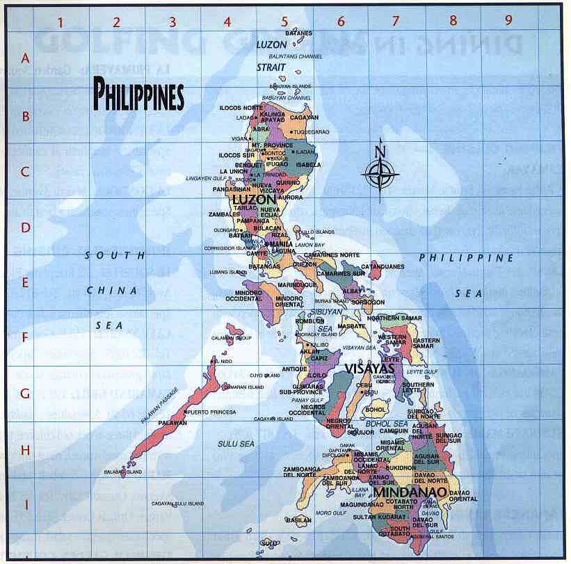 Philippine Islands Map
